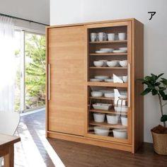 Home Decor Kitchen, Kitchen Furniture, Wood Furniture, Kitchen Design, Furniture Design, Crockery Cabinet, Freestanding Kitchen, Home Goods Decor, Wooden Kitchen