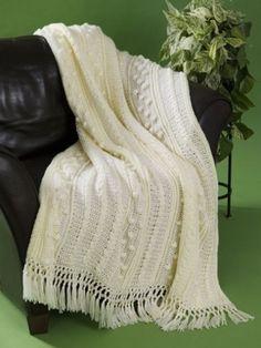 Simple Aran Crochet Afghan