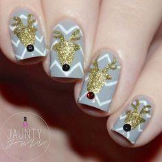 "These 47 Christmas Nail Art Designs are all new and fresh ideas that we haven't posted previously and we wanted to share them with you. All of these designs were found from various sources so make sure to visit them when you are done checking out this post for more creative ideas. We really tried … Continue reading ""47 Christmas Nail Art Designs Red Base with Silver Polka Dots"""