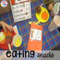 Snack Shop at the Pumpkin Patch Dramatic Play: How to set it up in your preschool, pre-k, tk, and kindergarten classroom Preschool Centers, Preschool Themes, Dramatic Play Centers, Play Centre, Art Lessons Elementary, A Pumpkin, Autumn Theme, Pretend Play, Kindergarten Classroom