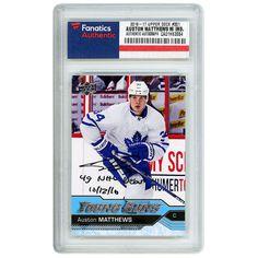 Auston Matthews Toronto Maple Leafs Fanatics Authentic Autographed 2016-17 Upper Deck Young Guns Rookie #201 Card with 4G NHL Debut 10/12/16 Inscription