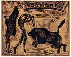 Pablo Picasso - Toros Linocut, 1962