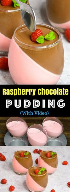 This Raspberry And Chocolate Mousse is a fun and easy recipe to make for any special occasion. See how to make it with our video tutorial. The post Raspberry Chocolate Mousse appeared first on Tasty Recipes. Yummy Treats, Delicious Desserts, Sweet Treats, Yummy Food, Healthy Desserts, Jello Desserts, Refreshing Desserts, Gourmet Desserts, Rasberry Desserts