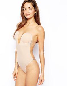 Fashion Forms – Rückenfreier, trägerloser Dekolleté-Bodysuit mit U-Ausschnitt