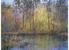 Lakeside in Autumn | Michael Norman PS Exhibited at the Pastel Society Exhibition 2015