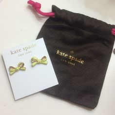 ✨ NEW ✨Kate Spade ♠️ Earrings Kate Spade yellow bow tie earrings. Authentic. Comes with dust bag.  In excellent condition.   Negotiable. Please use the offer button! kate spade Accessories