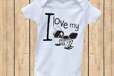 I love my Aunt Ant Baby Onesie Funny Cute by DaleighDesigns