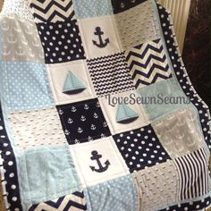 This Baby Whales quilt is Lovesewnseams signature style quilt. Designed from love of the ocean and the beach. 100% Cotten quilting fabrics in Blue,