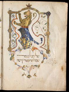 Meir ben Samuel of Provence, Pescia, Italy, 1396, MS. Canon. Or. 81, fol. 1b, Bodleian Library