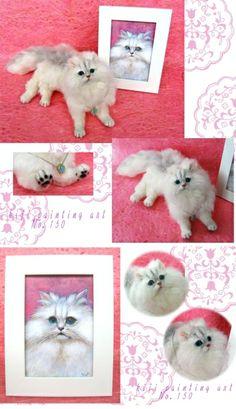 Felted cat by Mirii Kirino (Japan)