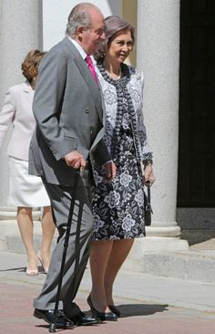 Spain's former King and Queen attend the First Holy Communion of their granddaughter Heiress Apparent Princess Leonor, Princess of Asturias May 20, 2015