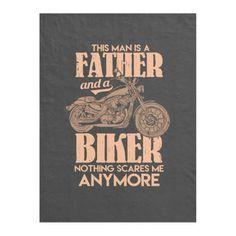 Motorcycling -  Father And A Biker Fleece Blanket   biker style men, harley girls biker chick, dog biker #bikers #bikerslife #bikerlove, 4th of july party