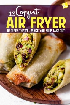 These Air Fryer recipes are perfect copycats of the restaurant recipes you love! We've found all the best copycat air fryer dinner, appetizer, & dessert recipes that will save your family money on takeout: Chick-fil-A Copycat Air Fryer Chicken Sandwich Recipe, Copycat Cheesecake Factory Avocado Egg Rolls, Copycat Outback Steakhouse Bloomin' Onion, Texas Roadhouse Fried Pickles, McDonald's Air Fryer French Fries Recipe, Boneless Buffalo Wings Recipe, and even Copycat Popeye's Fried Chicken!