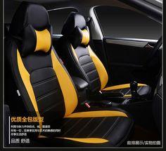 1pcs PU leather Car Headrest Neck Pillow Auto Seat Cover Head Neck