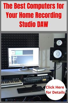 Your home recording studio DAW is a basic essential piece of home studio equipment. The computer that powers it needs to be up to the task. These recommended computers will get those music production tasks done. #bestdawcomputer #musicproduction #homestudioequipment #homestudiosetup Home Recording Studio Setup, Home Studio Setup, Home Studio Music, Home Studio Equipment, Music Software, Recorder Music, Music Promotion, New Tricks, Computers
