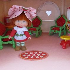 Living Room Rug for Strawberry Shortcake Berry Happy Home Dollhouse by BrownEyedRose