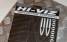 Respro® Hi-Viz Sticker Kit Reflective Stickers Pressure Sensitive A4 sheet www.respro.com