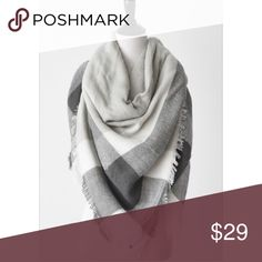 """Charcoal Blanket Scarf 🎉Host Pick! 🎉This is such a classic! Everyone should own such a great basic! Perfect for fall and will go with everything! Made of 100% soft acrylic and measures 57"""" x 57"""" so it is extremely versatile!!! mackenzi lane Accessories Scarves & Wraps"""