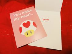 #Mario Valentine Card by One Eyed Me