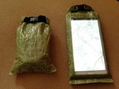"""From Colin Ibbotson """"Today's MYOG projects. Phone & camera cases. Cuben + plastic liner + bubble wrap padding. Light & dust/waterproof."""""""
