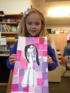 Kindergarten artists created these special self-portraits to give their moms for Mother's Day. The artists learned that a self-portrait is.