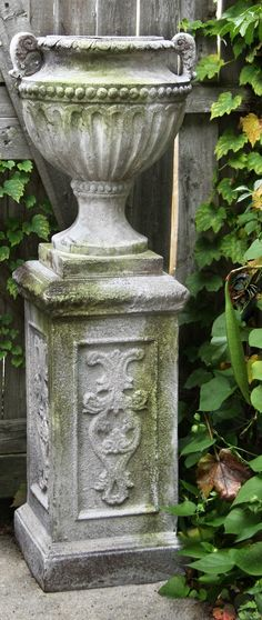 Our Liberick Outdoor Pedestal is a fitting foundation for showcasing any garden planter or statue.