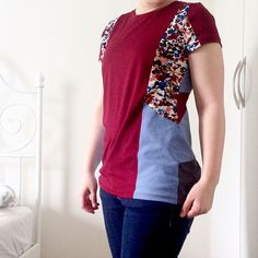 And here is the finished puzzle tee. I like the front part, but I'm not so sure about the back, maybe it's a bit too busy. Tbh I didn't really know what to do with the back anyway  I think next time I wouldn't do it symmetrically. But I still like it and am sure that I'll wear it. #larktee @grainlinestudio #sewing #sewingproject #tshirtdiy #handmadewardrobe #memade #isew #instasew #ilovesewing #scrapbusting…
