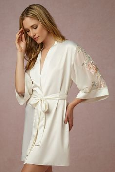 Sweet Pea Robe from @BHLDN- for getting ready for wedding for bride.