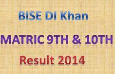 BISE DI Khan Board Matric 9th 10th Class Result online