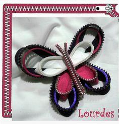 LOS TELARINES DE LULA: LOCURA DE CREMALLERAS: MARIPOSAS Y LIBÉLULAS