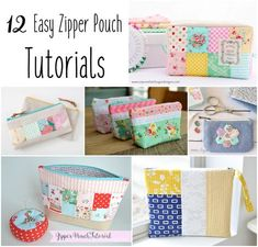 ZIPPER POUCHES!!! One of my favorite things to sew! They are small, easy, quick, and very useful! I make so many of them that I buy zippers in bulk, so I will always have them on hand. (9″ Zippers, 54 pieces, assorted colors) I put together a little collection of my favorite tutorials on the …