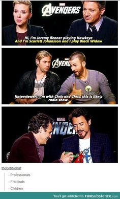 Difference in the Avengers