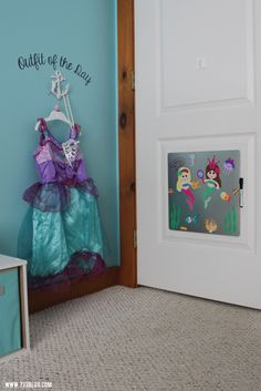 DIY Outfit of the Day and Magnetic Dry Erase Board - LOT'S OF GREAT IDEAS FOR A LITTLE GIRL'S BEDROOM