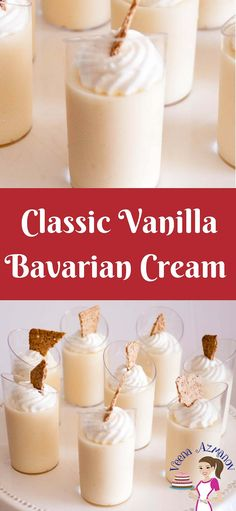 A classic French dessert that is delicious as exotic as it looks. A vanilla Bavarian Cream also called creme' Bavaria or just Bavarios is a custard based dessert made with vanilla pastry cream as a base. Infused with vanilla or liquor then lighted with fresh whipped cream. Simple, easy yet very impressive dessert that's perfect any time of the year. via @Veenaazmanov