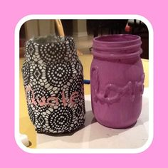These are easy ways to make a quote jars or little lamp things for the one that says love is really simple  For the one with quote all u need to do is hot glue gun the fabric on and then cut or glue the fabric on or off and the for the love one all u need to do is hot glue the a word on and paint over it