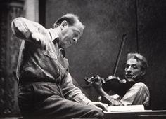 Fritz Kreisler In Rehearsal With Eugene Ormandy And The Philadelphia Orchestra Academy of Music-Philadelphia-1943