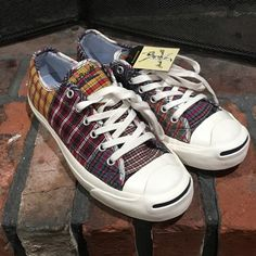 Shop Women's Converse size 8.5 Sneakers at a discounted price at Poshmark. Description: Converse Jack Purcell NWT Plaid sneakers men's 7. Brand new with tags. Never worn. Men's size 7. Women's size 8 1/2. Ready for summer. Sold by jlmerv. Fast delivery, full service customer support.