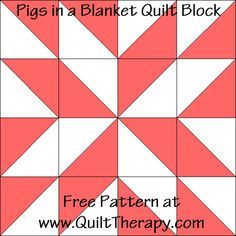 Quilted Kitchen: Pigs in a Blanket Quilt Block & Pigs in a Blanket Recipe | Quilt Therapy