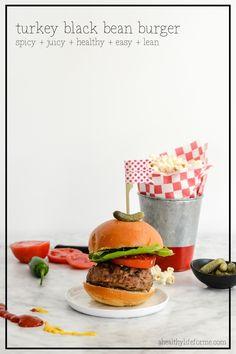 Turkey Black Bean Burger Recipe | ahealthylifeforme.com