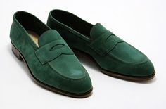 Edward Green - Green Loafer Suede
