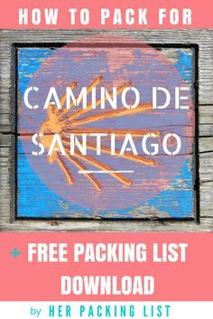 This is the best packing list post I've ever read! #camino