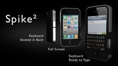 The Spike a #case for the #iPhone that comes with a foldaway keyboard