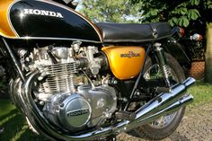 HONDA CB 500 Four Candy Gold EZ 1972 Honda Cb 500, Cb550, Honda Bikes, Japanese Motorcycle, Cool Motorcycles, Mini Bike, Classic Bikes, Bike Trails, Cafe Racers