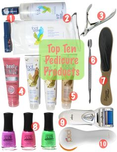 My Top Ten Favourite Pedicure Products | Beauty Blogger Top Ten Tuesday