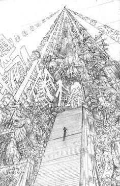 royalboiler:  Here's Stokoe's cover pencils for the next Prophet trade.  PROPHET, VOL. 4: JOINING TP COVER: JAMES STOKOE FEBRUARY 2015 ByBrandon Graham By:Simon Roy By:Farel Dalrymple By:Giannis Milonogiannis By:Matt Sheean By:Malachi Ward by: Ron Wimberly By:James Stokoe by Joseph Bergin III By: Bayard Baudoin  By Aaron Conley by: Lando Lettered by Ed Brisson