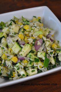 la pure mama.: Lemon Dill Vegetable Orzo Pasta Salad