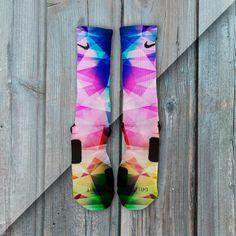 Rainbow Prism Custom Nike Elite Socks