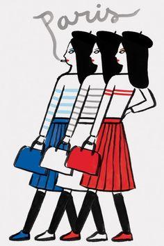 Colette Paris postcard