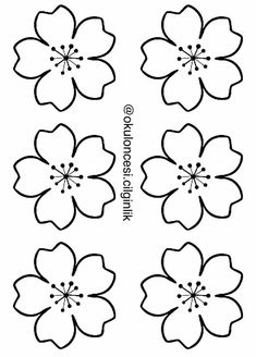 paper flower templates 2 - - Her Crochet Flower Petal Template, Flower Svg, Butterfly Template, Flower Tutorial, Flower Crafts, Embroidery Patterns, Hand Embroidery, Felt Flowers Patterns, Felt Flower Wreaths