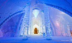 Quebec Canada  Ice Castle Hotel